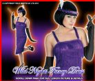 FANCY DRESS COSTUME ROARING 20'S PURPLE FLAPPER MED 12-14